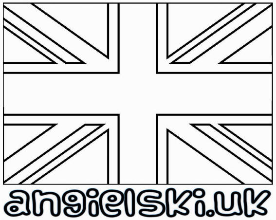 union flag colouring picture