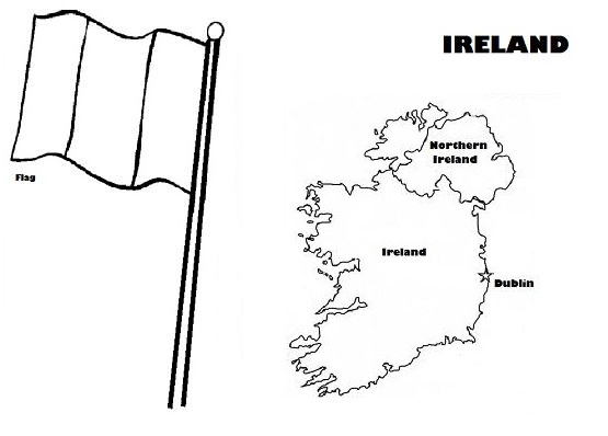 ireland coloring picture