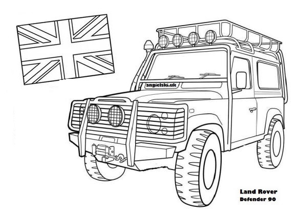 land rover coloring picture